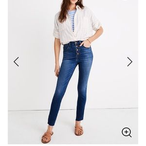 """Madewell 10"""" Skinny Crop Button Jeans (Tencel)"""